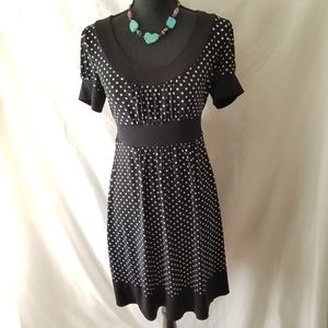 Adorable Black & White Polka Dot Dress EUC